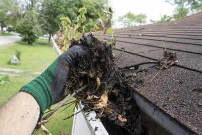 cleaning - gutters